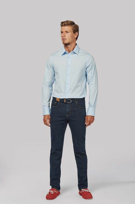 Pánská streèová košile s dlouhým rukávem