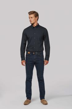 Pánská popelínová košile dlouhý rukáv