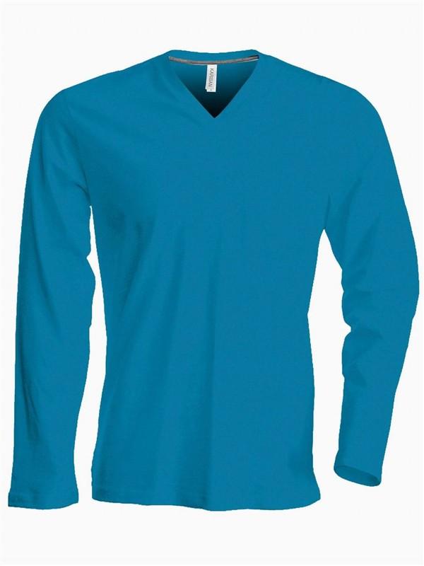 Pánské trièko dl.rukáv V-neck - Výprodej