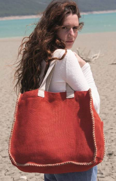 Jutová taška s kontrastním lemem - zvìtšit obrázek