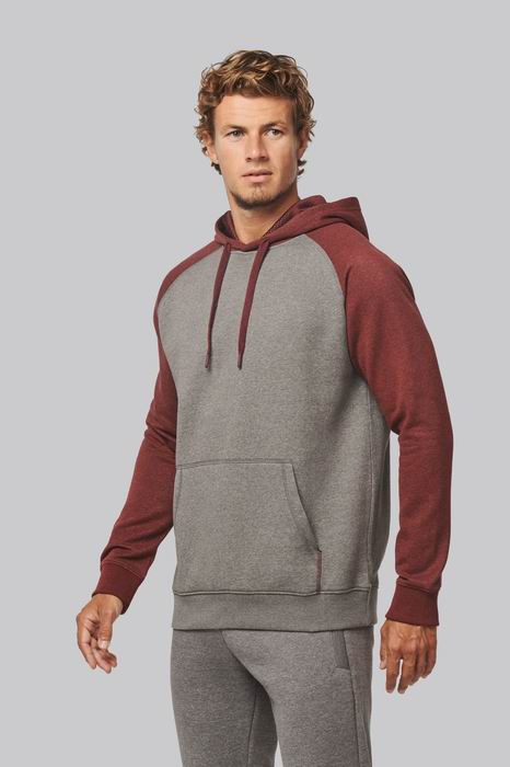 Mikina unisex Adult two-tone hooded sweatshirt